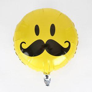 globo con bigote decoracion fiestas cumpleaños caras felices