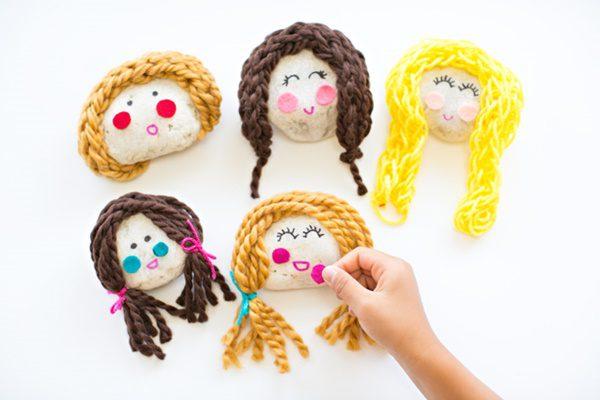 hacer tu propia muñeca de piedras