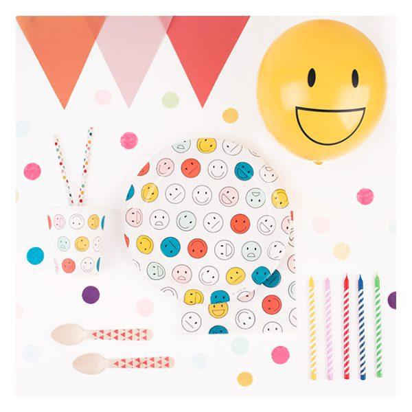 kit de caras sonrientes para decoracion fiestas infantiles