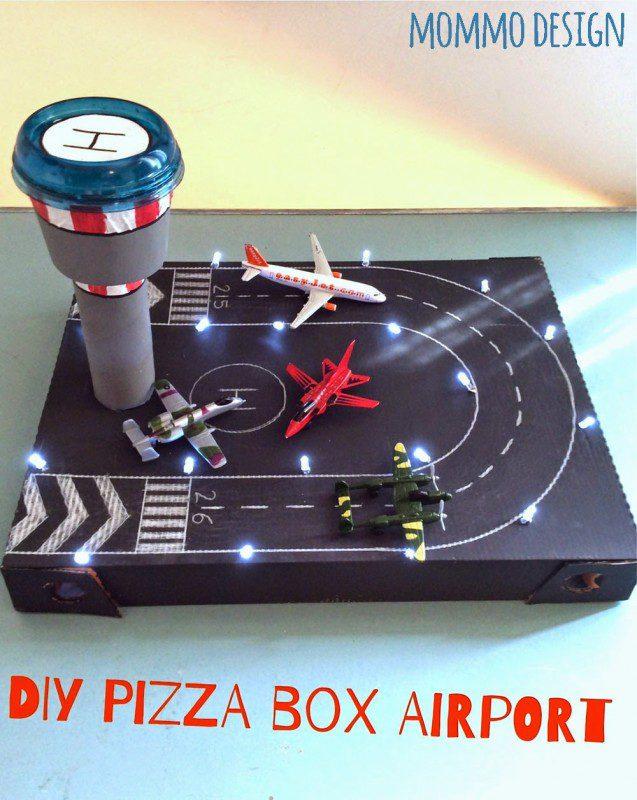 manualidades con caja de pizza
