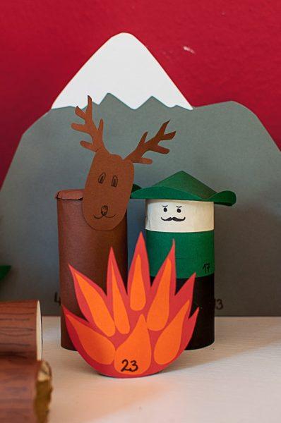 manualidades con carton para niños animales del bosque
