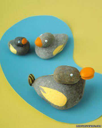 patitos piedras