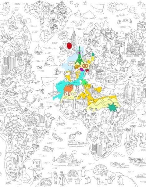 poster coloreable atlas