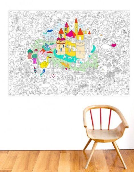 poster coloreable castillo