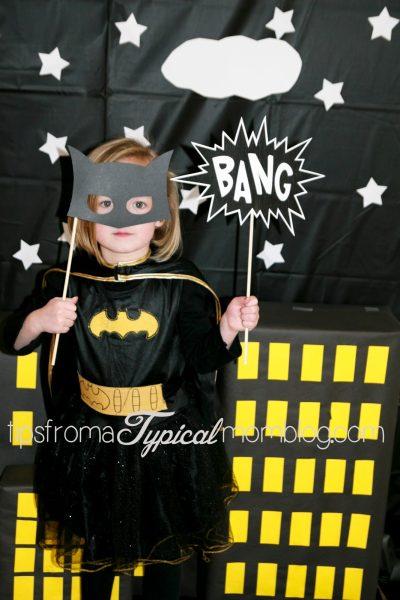 recortables imprimibles con bocadillos de superheroes photo call