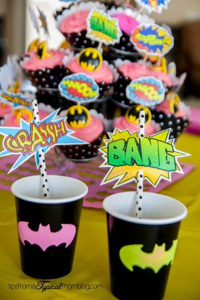 recortables imprimibles vasos de superheroe
