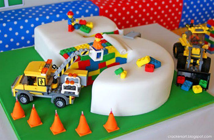 tarta de cumpleaños niños LEGO