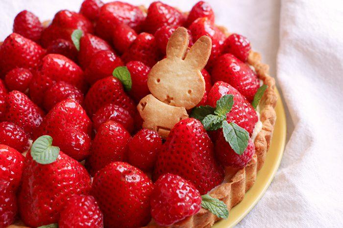 tarta de fresa facil niños