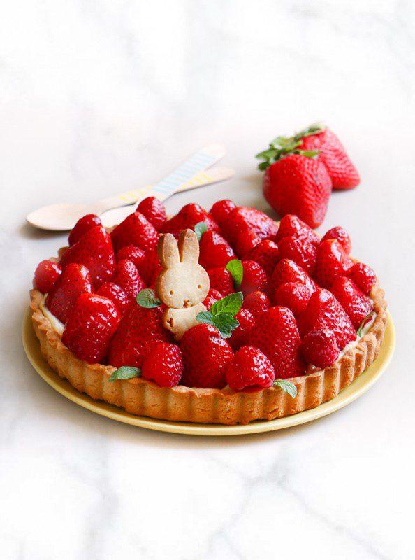 tarta de fresa niños