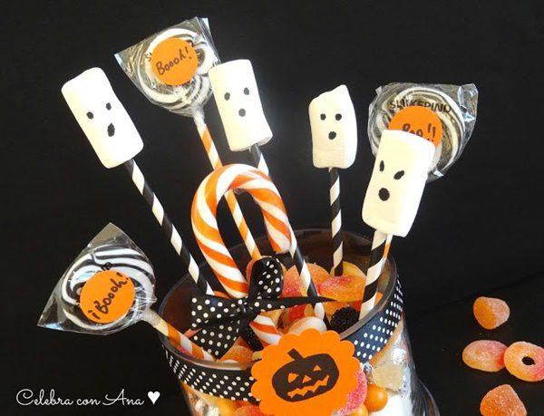 centro de mesa facil halloween