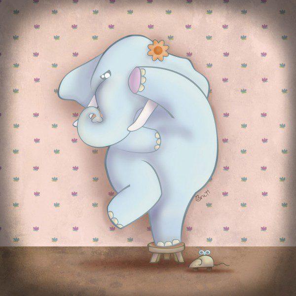 cuento en inglés elephant amaranta's fear