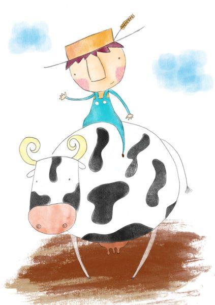 cuento en ingles cows don't go to school