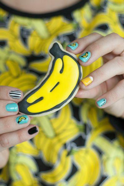 cumpleaños banana galletas