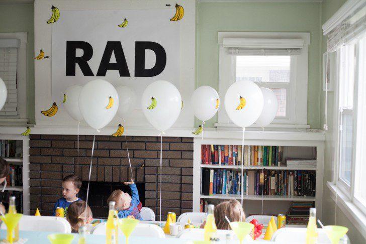 cumpleaños banana globos