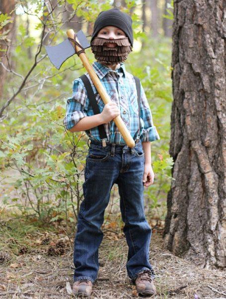 disfraz de leñador para halloween