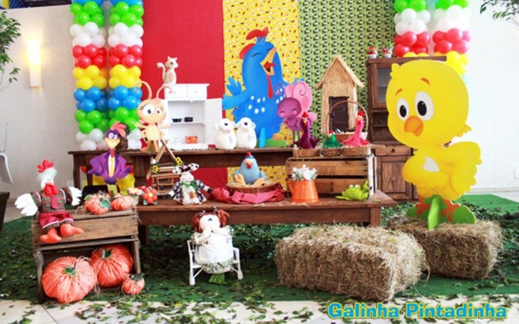 fiesta de animales granja
