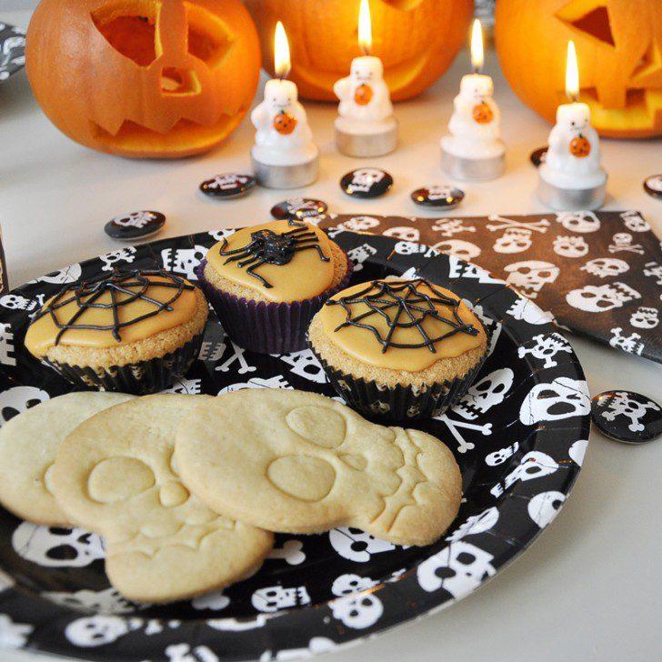 fiesta falloween cupcakes