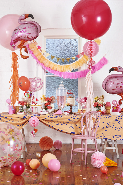 Estallido de colores en una fiesta infantil