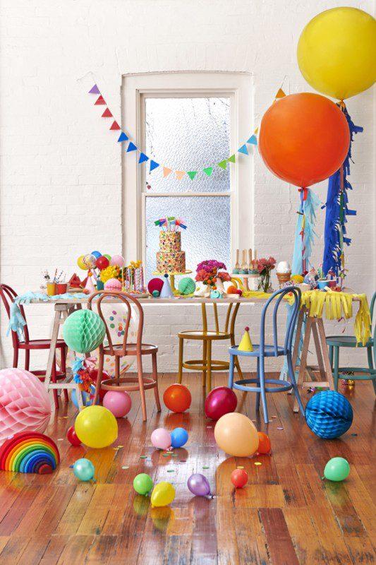 fiesta infantil estallido de colores globos grandes