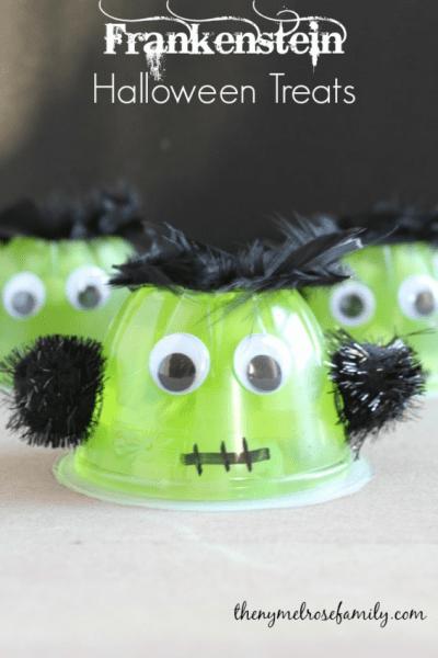 Gelatina de Frankenstein para Halloween