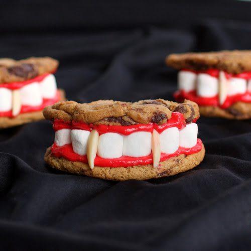 Galletas de Drácula para Halloween