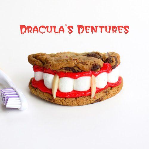 galletas dinetes de dracula para halloween