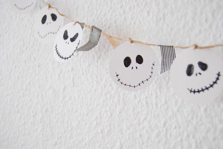 guirnalda bonita de halloween