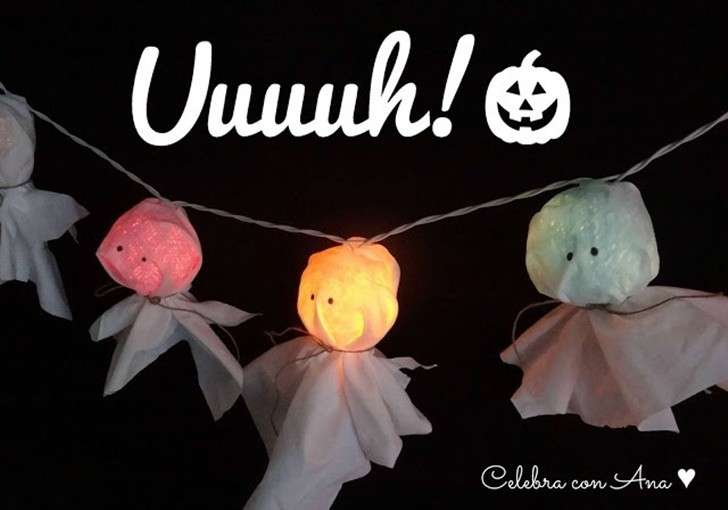 guirnalda de luces halloween