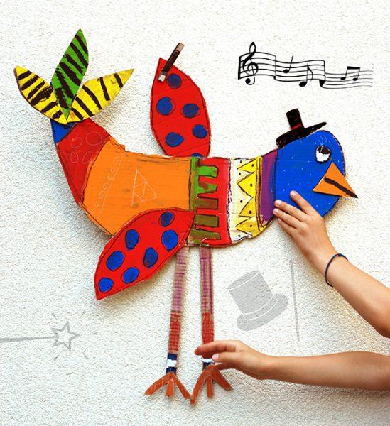 Manualidades para hacer pájaros de cartón