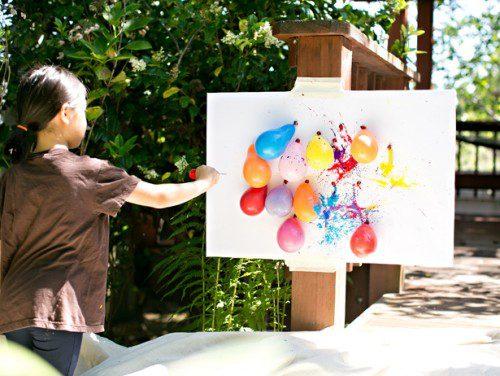 pintando con globos