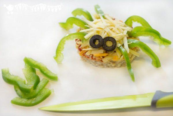 pizza con verduras para niños