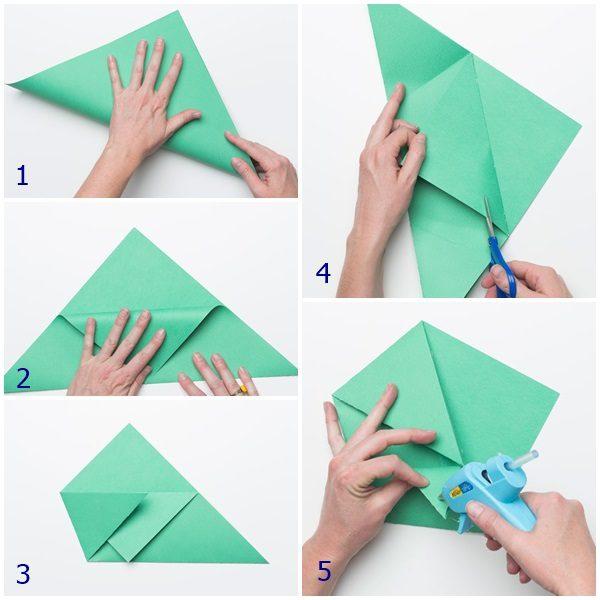 sandwichera de papel para los peques origami
