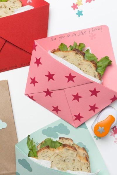 Sandwicheras de papel para los peques (origami)