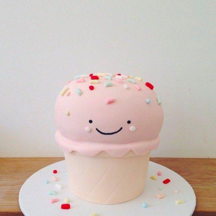 tarta bonita de helado kawaii