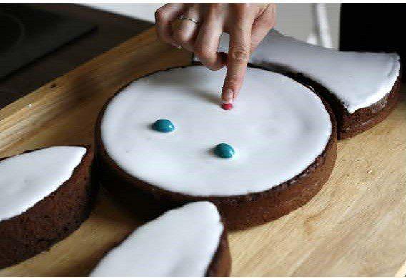 tarta de conejito detalles