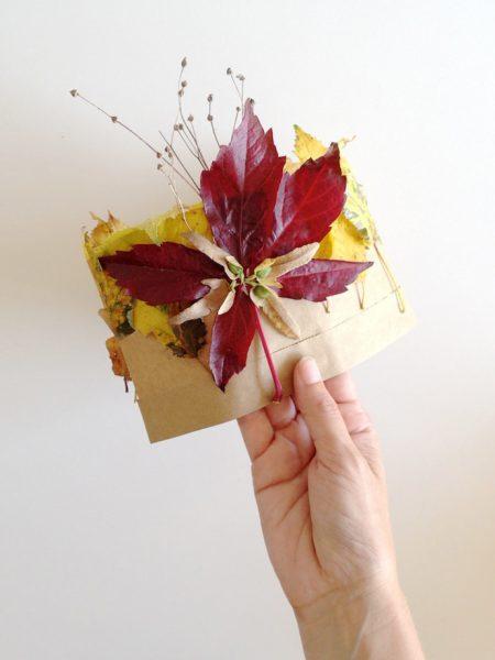 01 proyecto de otoño corona con hojas secas
