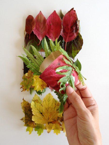 02 proyecto de otoño brazalete con hojas secas