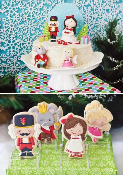 Increíble fiesta del Cascanueces tarta y galletas