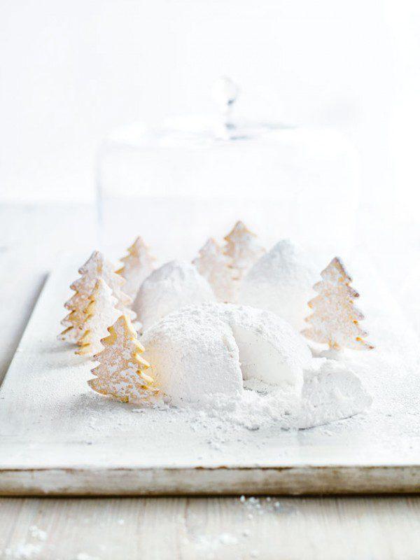 Montañas de nubes nevas, receta de navidad con galletas