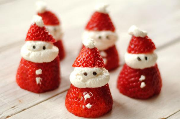 Papá Noel de fresa y nata