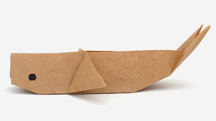 figuras de origami para niños - ballena
