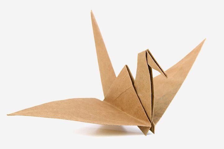 figuras de origami para niños - pájaro