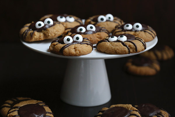 Deliciosas galletas de crema de cacahuete y chocolate