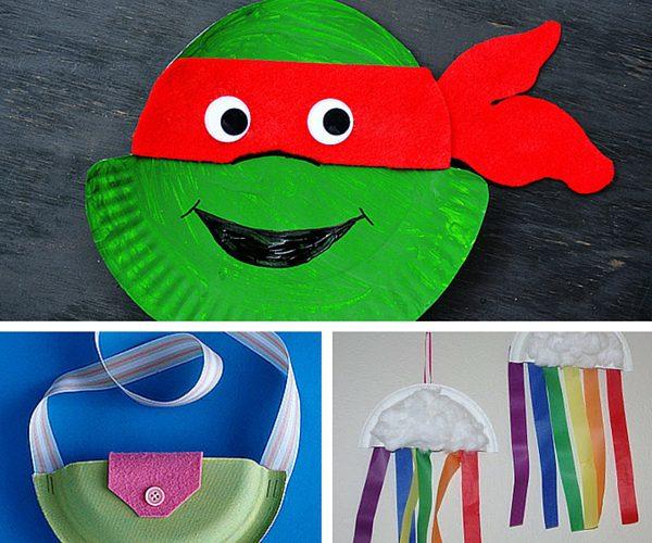 manualidades con platos para niños