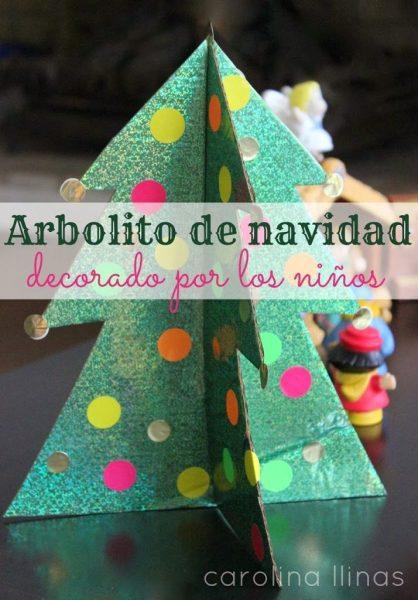 Árbol de Navidad en 3D para hacer con niños