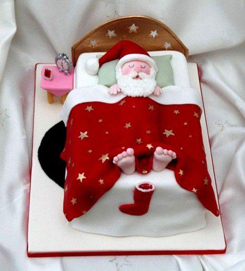 9 tartas de invierno - papá noel durmiendo