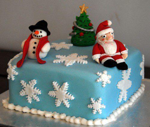 9 tartas de invierno - papa noel