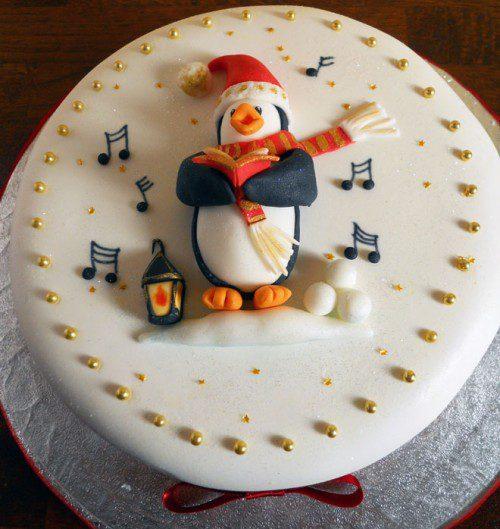 9 tartas de invierno - pinguino