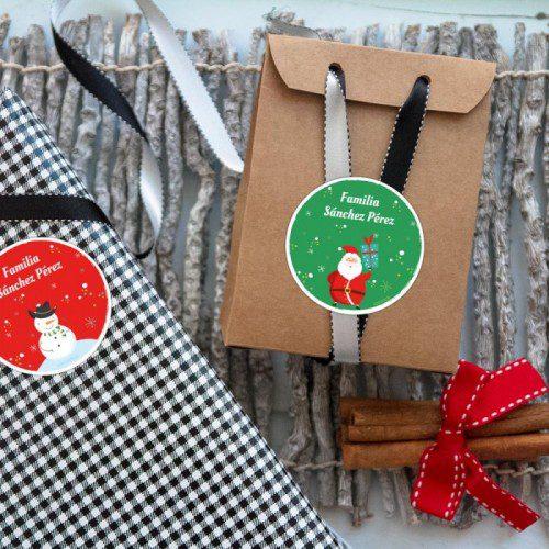 FUNCHOICE etiquetas personalizables para Navidad