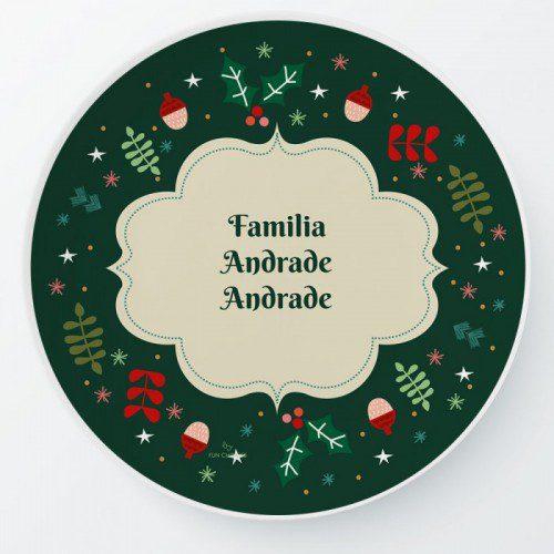 FUNCHOICE platos personalizados para navidad